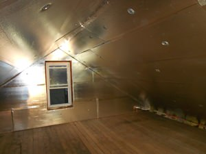 A Dayton attic with SuperAttic installed.