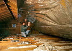 Radiant Barrier Attic Insulation in a Ohio home